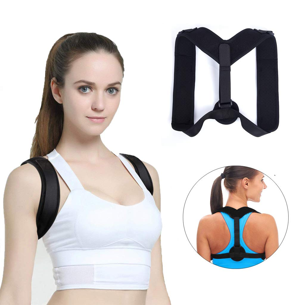 Adjustable Back Posture Corrector Support Neck Shoulders for Women and Men, Relief Pain