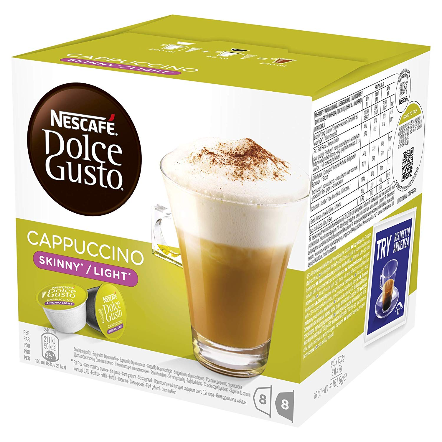NESCAF DOLCE GUSTO Cappuccino Skinny/Light Coffee Pods