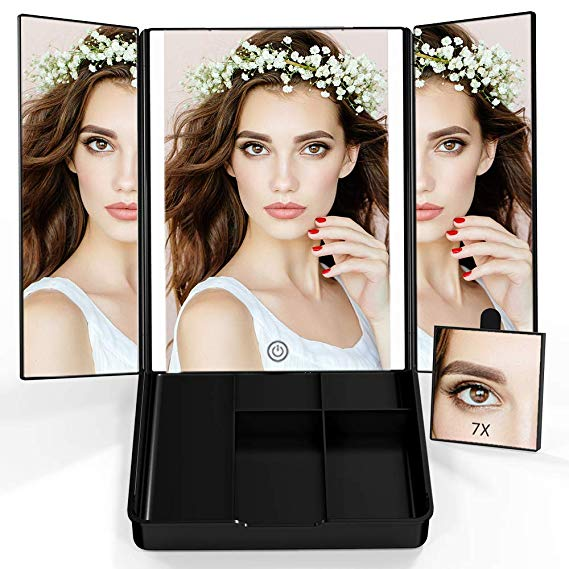 Makeup 7X Magnifying Tri-fold Mirror