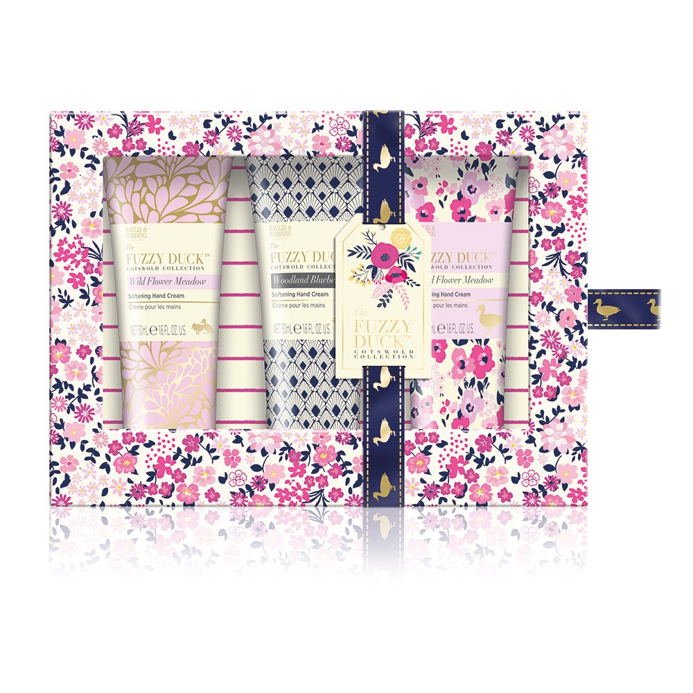 Baylis & Harding Fuzzy Duck Cotswold Floral Hand Cream Trio Gift Set