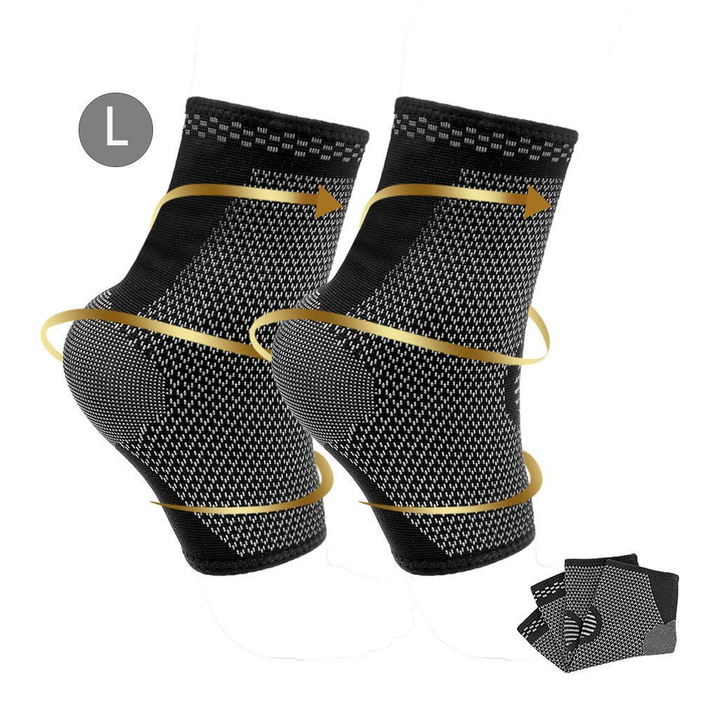 Compression Foot Sleeve Plantar Fasciitis Socks Ankle Sleeve 1 Pair Ankle Brace Ankle Support for Achilles Tendonitis