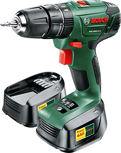 Prime Day – Click to open expanded view Bosch PSB 1800 LI-2 Cordless Combi Drill with Two 18 V Lithium-Ion Batteries