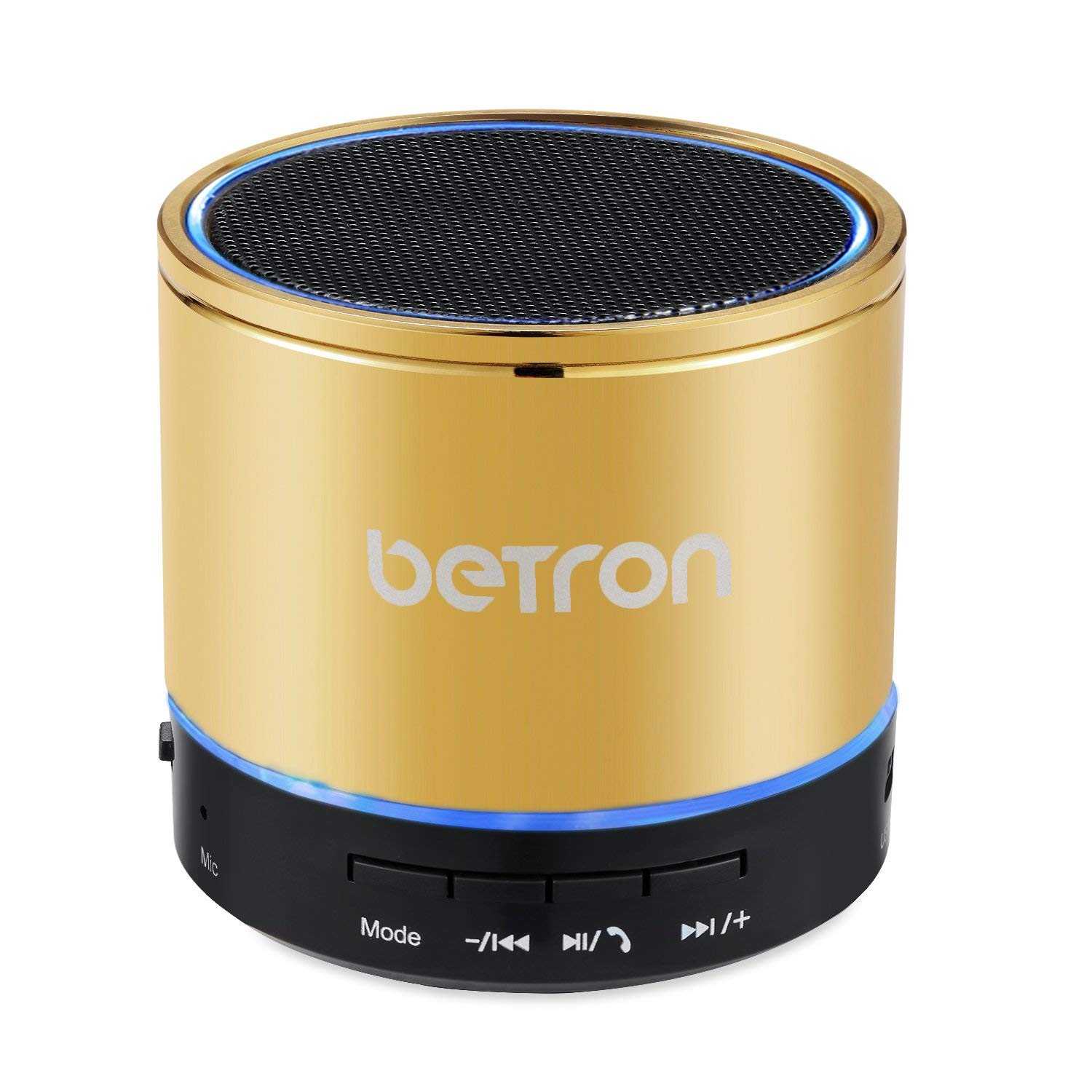 Betron KBS08 Wireless Portable Travel Bluetooth Speaker Gold