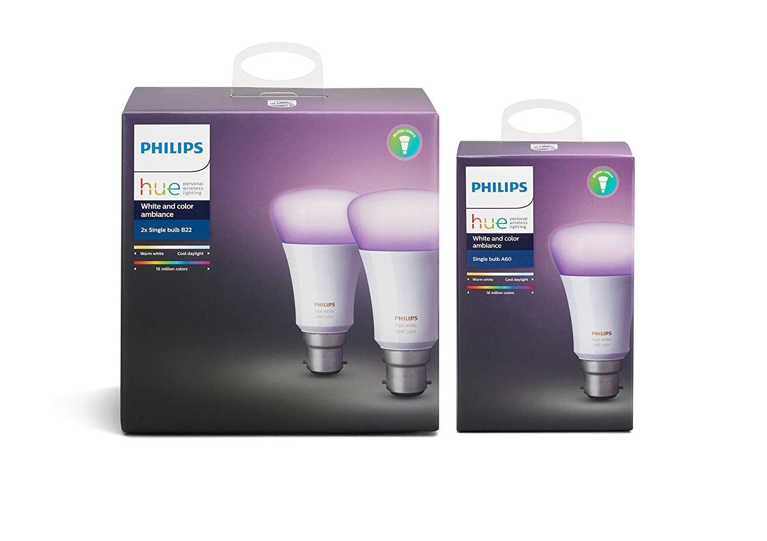 Philips Hue White and Colour Ambience 3-Pack (B22) for £79.99