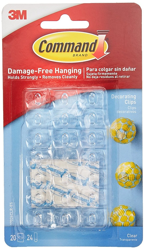 Command 17026CLR Decoration Clips for Christmas and Fairy Light – Clear