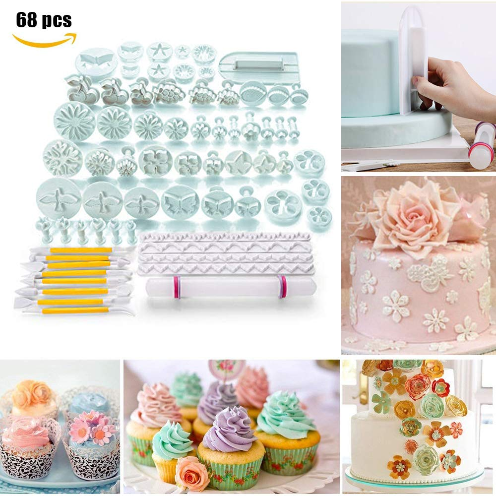 30% Off Cake decorating moulds tools 68 Pieces Kit Set