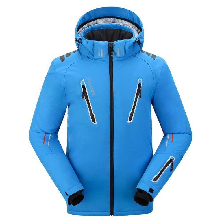 Men's Ski Jacket, Waterproof Windproof Breathable Antifouling Wear-resisting, Multi-pockets Outdoor Winter Warm Ski Clothes