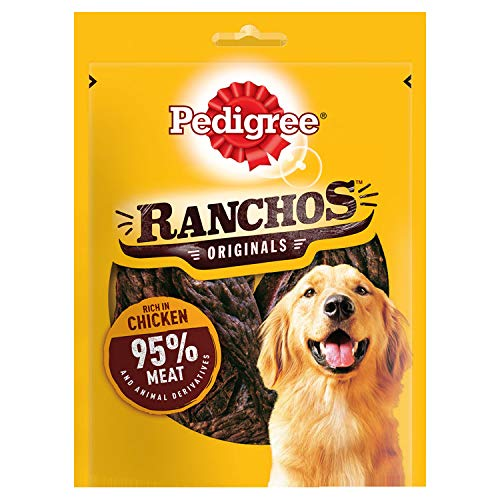 PEDIGREE Ranchos Dog Treats with Chicken, 70 G, Pack of 7