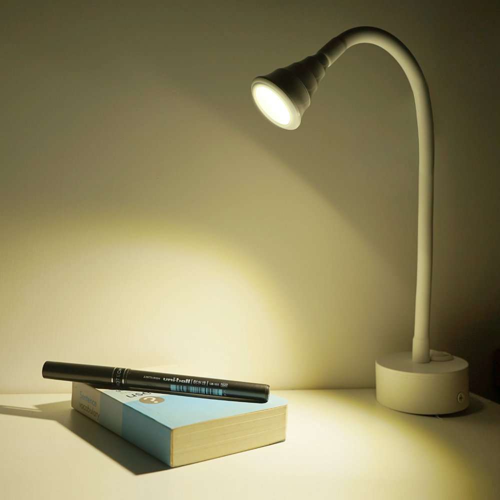 Geldee Flexible Bedside Reading Light,3W Gooseneck Arm LED Wall Light