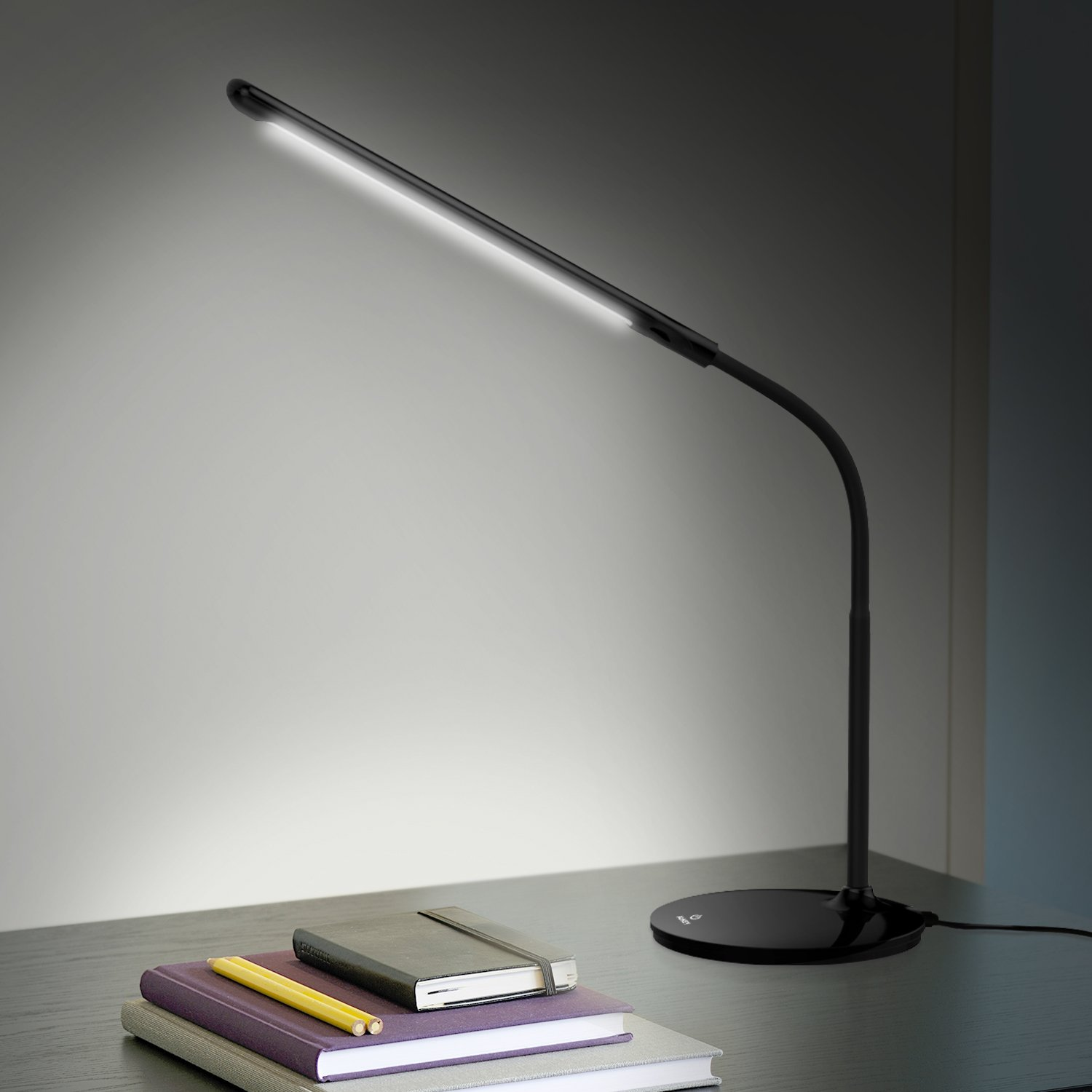 AUKEY Desk Lamp with 3 Modes Dimmer Levels, Touch-Sensitive Control Panel LED Table Lamp (LT-ST1)