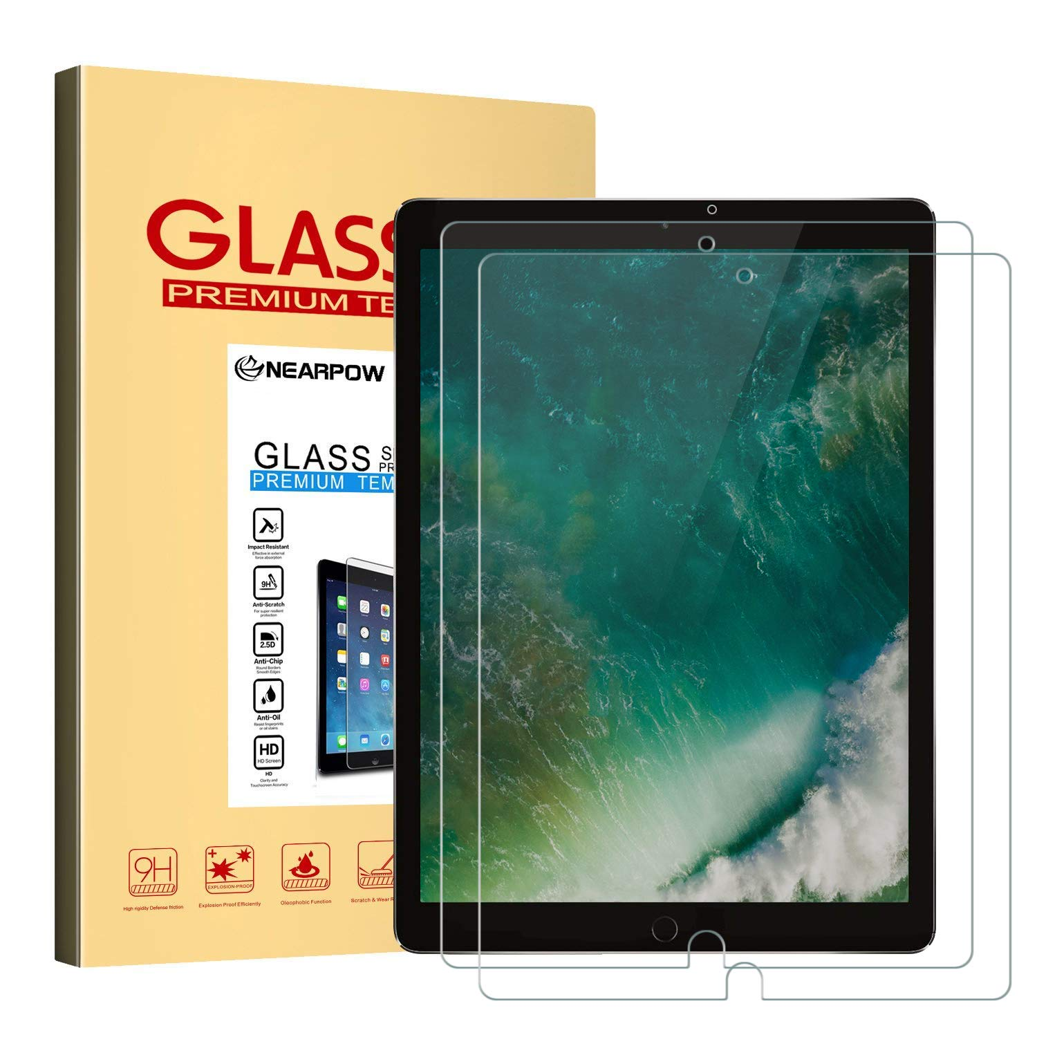 Lowest Price- [2 Pack] iPad Pro 10.5 Tempered Glass Screen Protector for £6.29