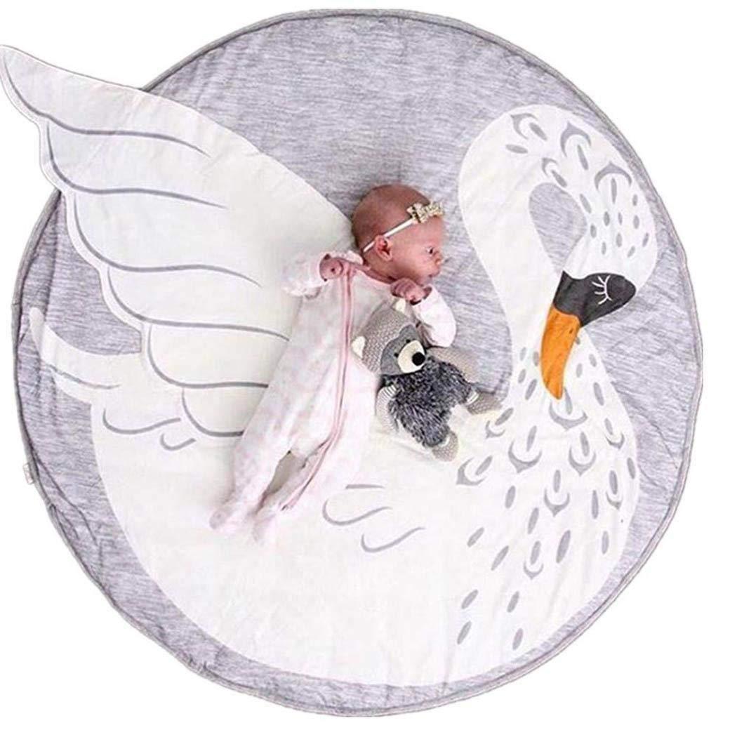Cartoon Cute Kids Nursery Rug Baby Play Mat round Carpet Home Room Decor Playmat