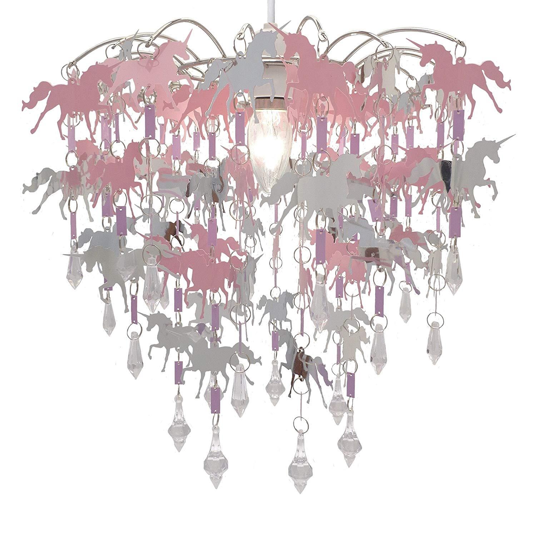 Unicorn Chandelier Children Bedroom Lamp Shade for Girls