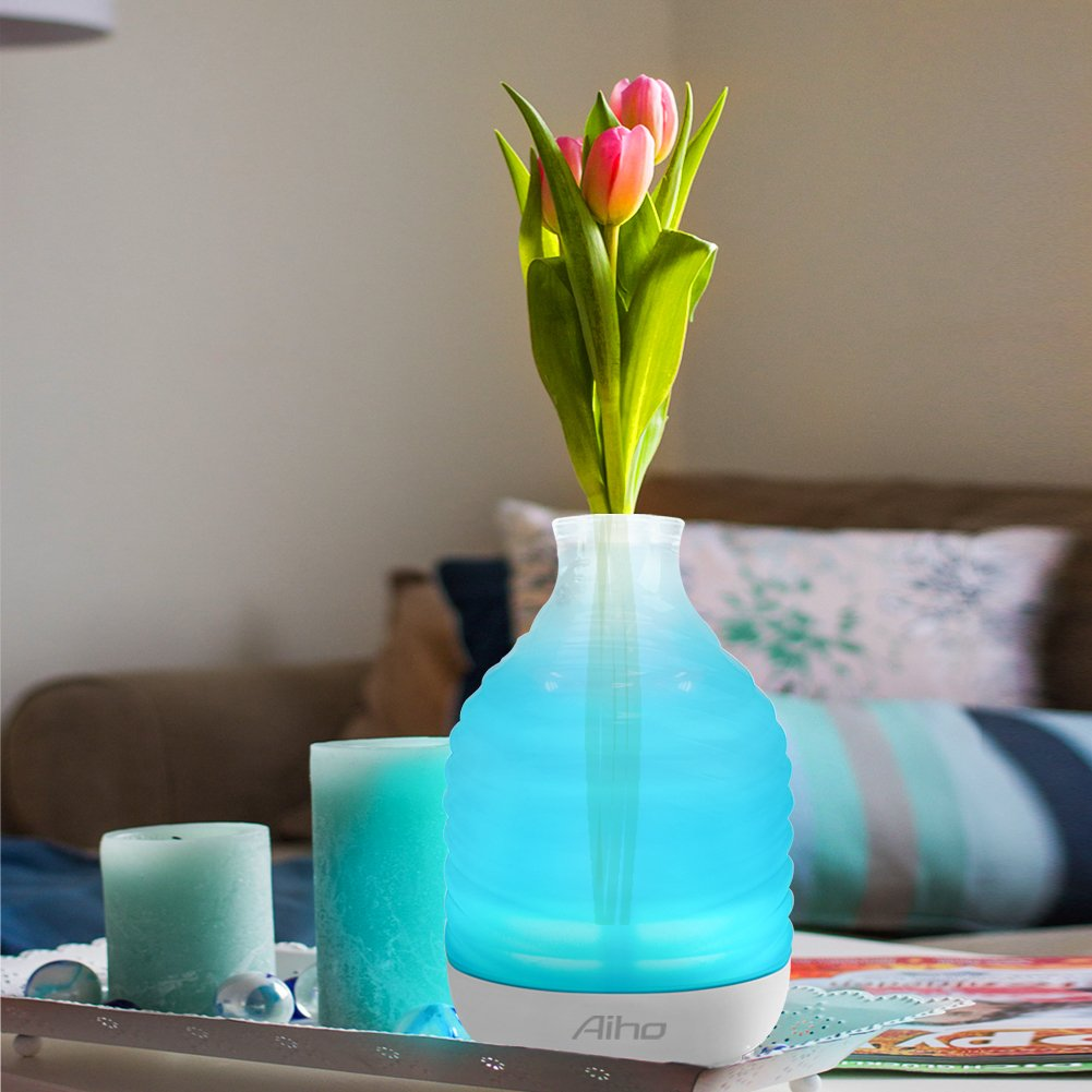 Aroma diffuser, 200ml, glass cover