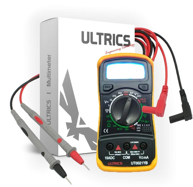 ULTRICS Digital LCD Multimeter Voltmeter Ammeter OHM AC DC Circuit Tester 1000V