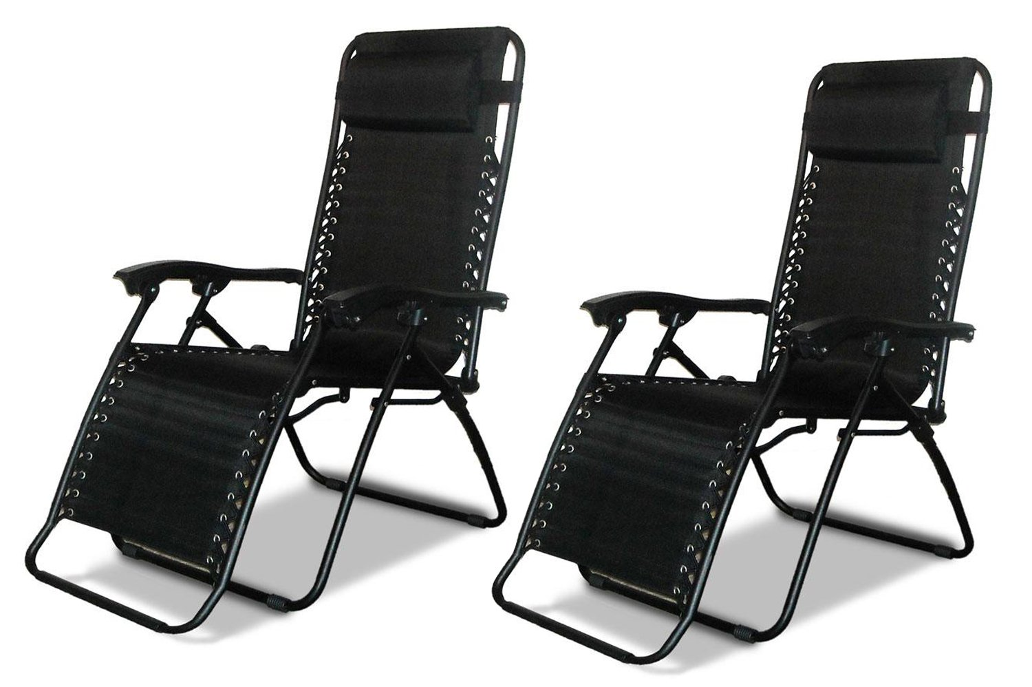 2 X DNY Textoline Reclining Garden Chair Beach Sun Lounger Recliner Chairs