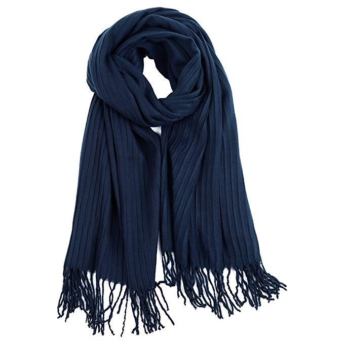 Women Winter Scarf Chenille Warm Soft Knitted Scarf Shawl Wrap