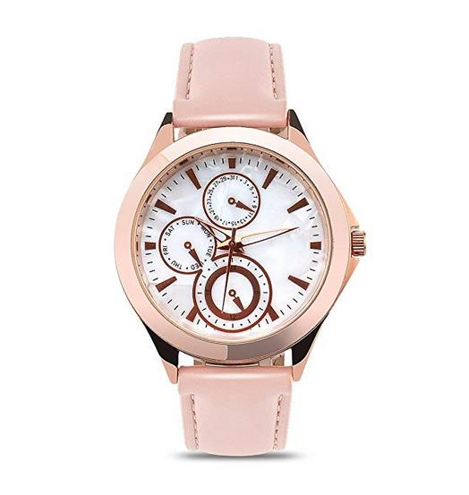 Abrray Women's Watches Fashion Quartz Analog Lady Wrist Watch with Mother-of-Pearl Dial and Rose Gold Case