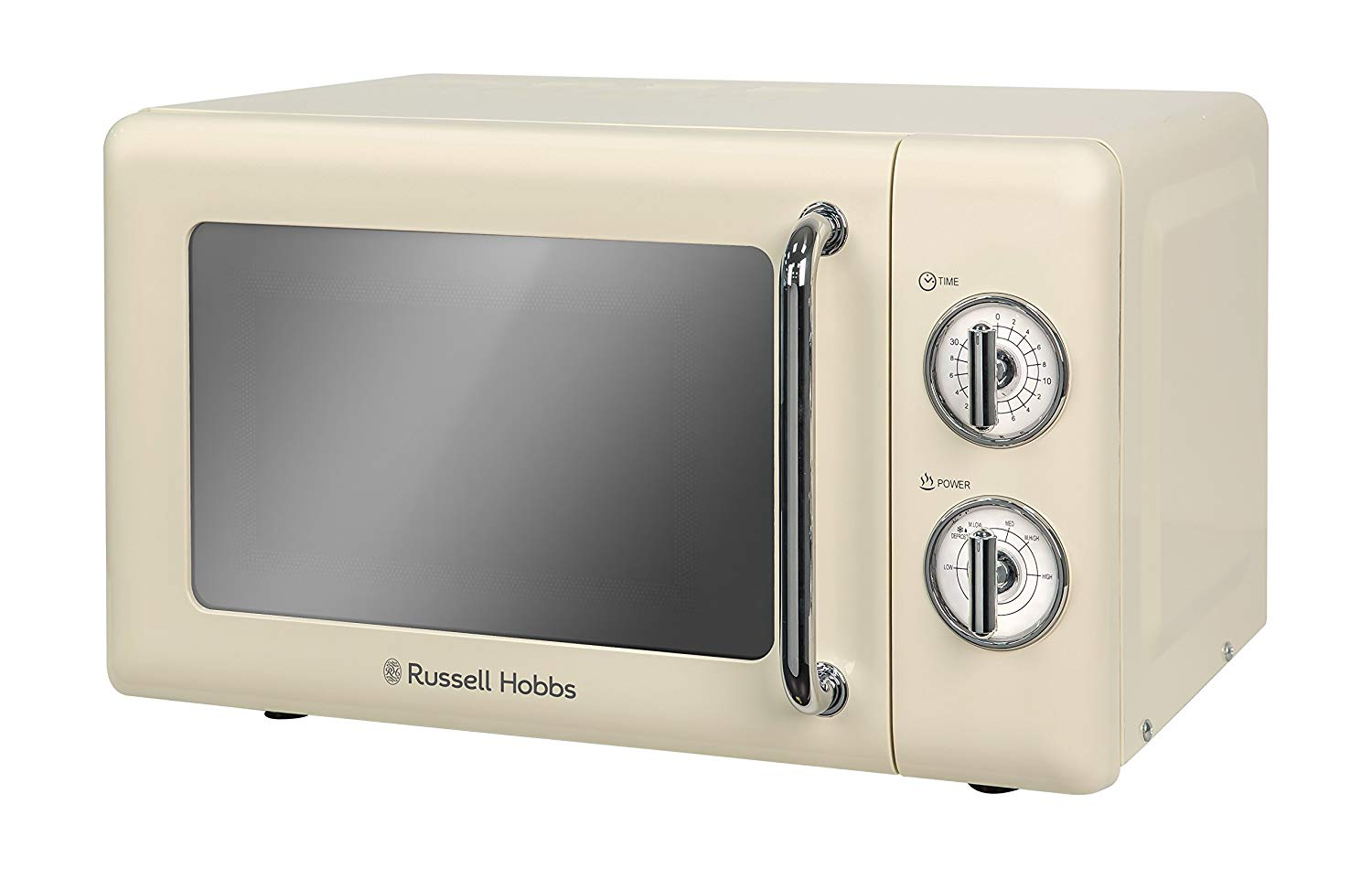 Russell Hobbs RHRETMM705C 17L Retro Manual 700w Solo Microwave Cream [Energy Class D]