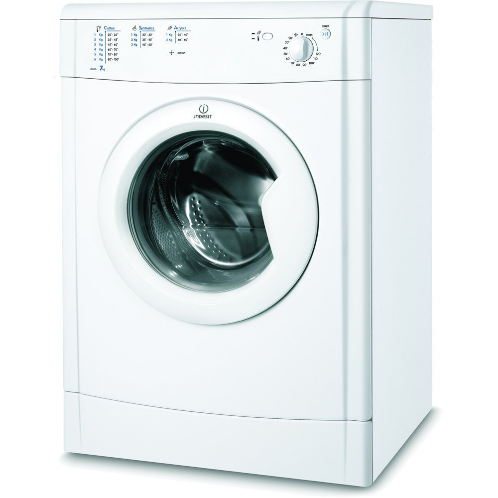 Indesit IDV75 Vented Tumble Dryer 7 Kilogram B Energy Rating White