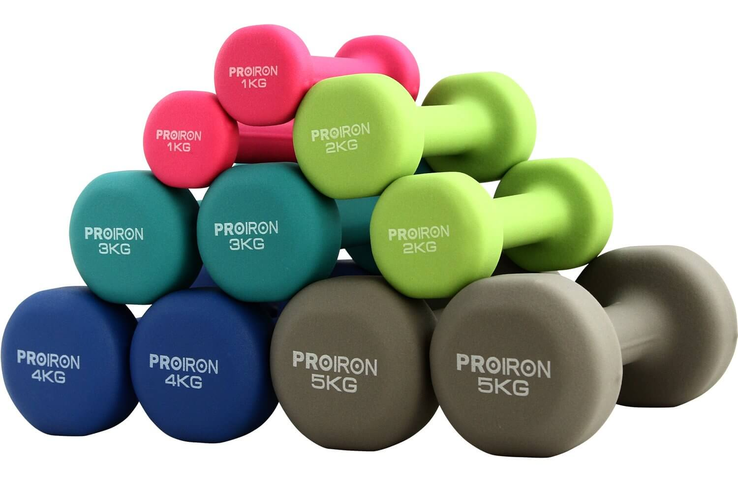 PROIRON Neoprene Dumbbell Weights Home Gym Exercise