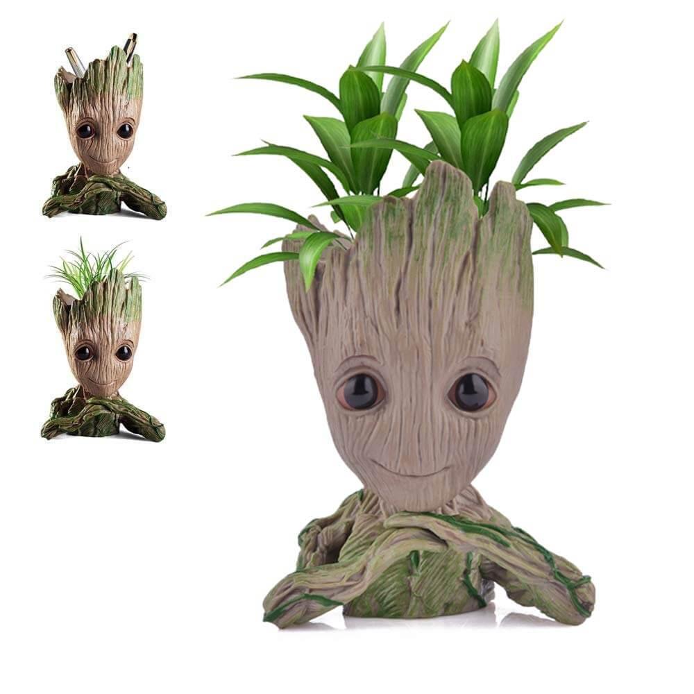 Udream Groot Plant Pot FlowerPot Groot Pen Holder