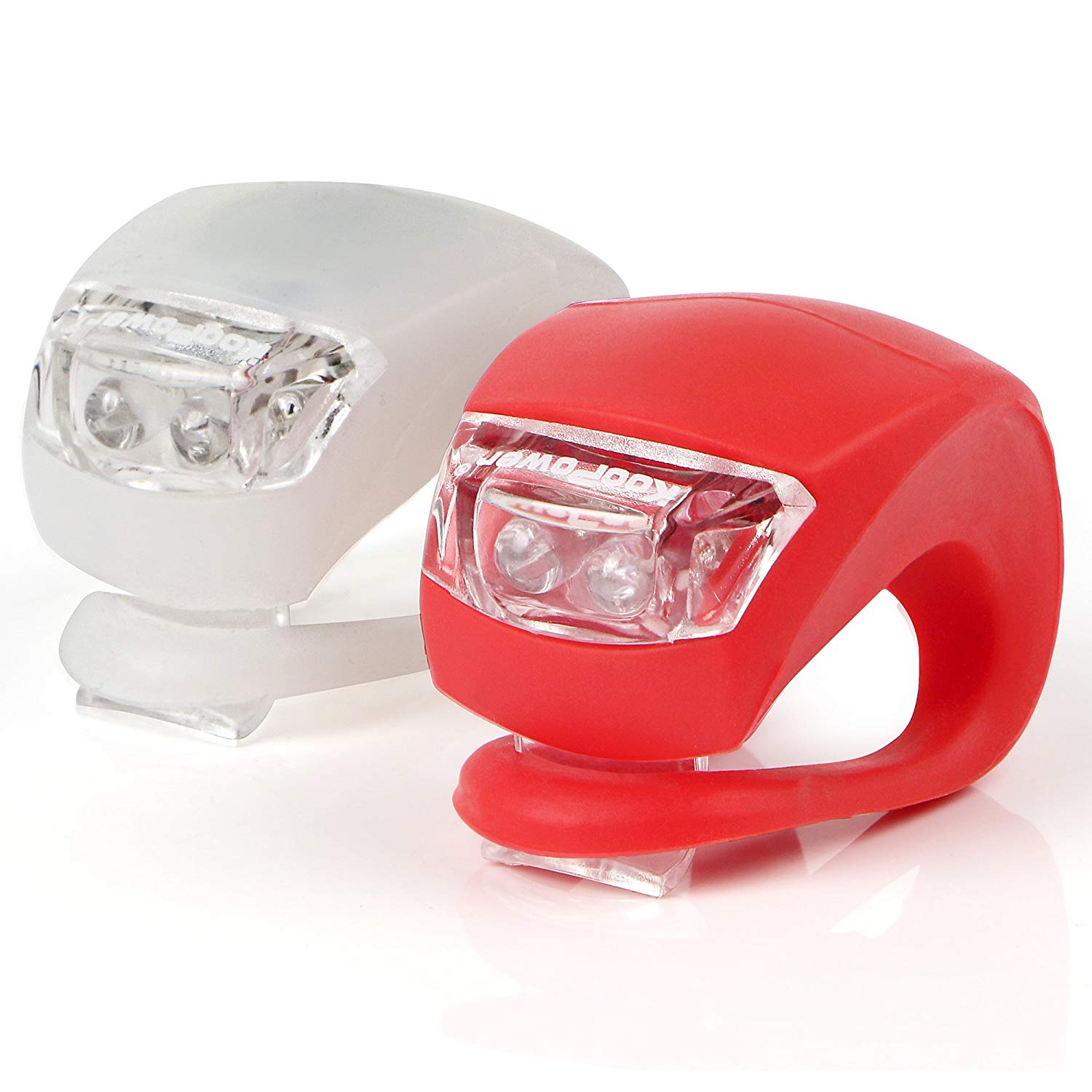 Bike Lights Set, 2 Pack, White & Red