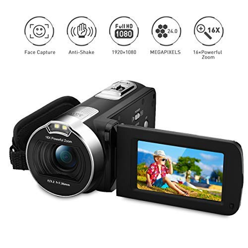 PRIKIM 1080P FULL HD Portable Digital Video Camera