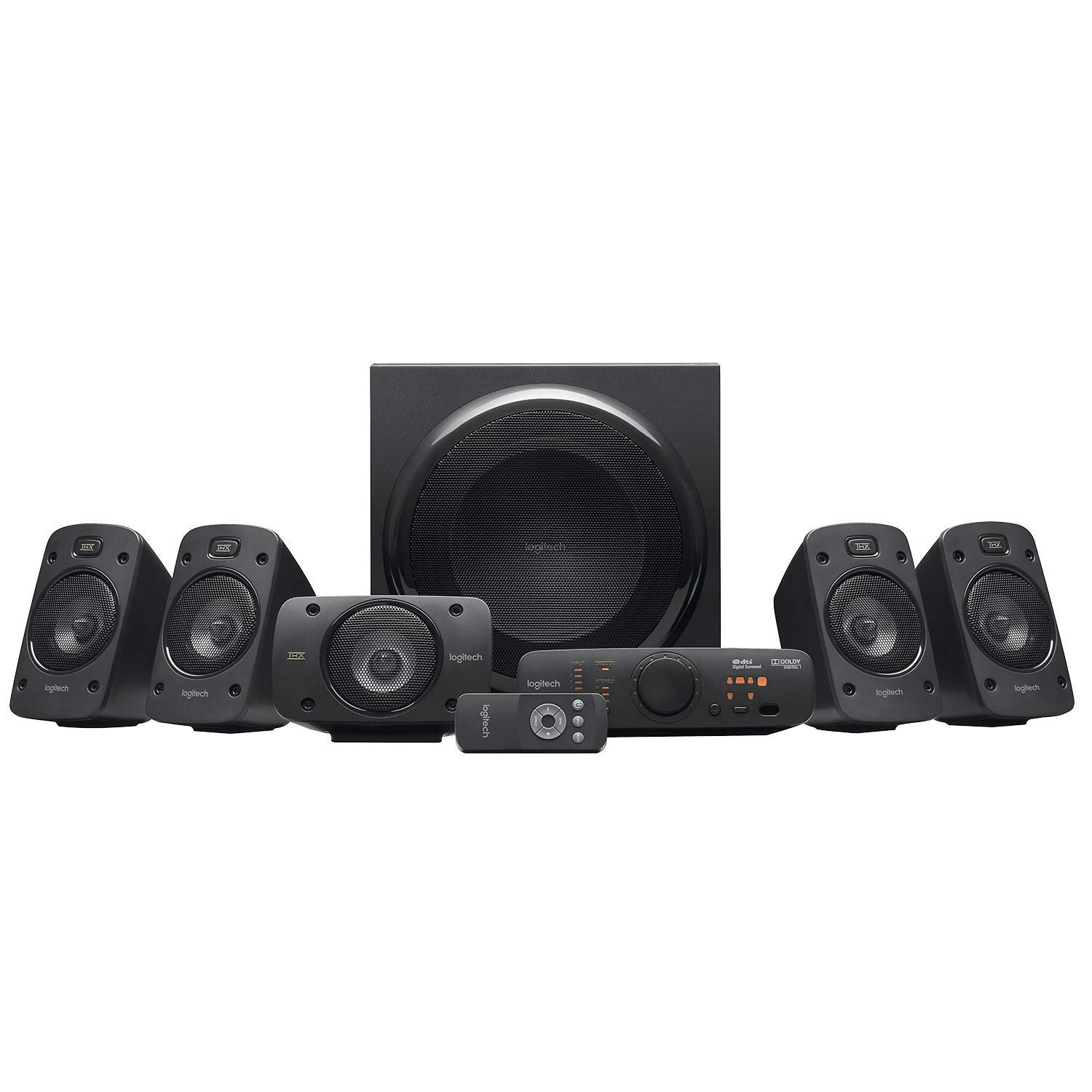 Logitech Z906 Stereo Speakers 3D 5.1 Dolby Surround Sound, THX, 1000 W, Ideal For TV and Living Room
