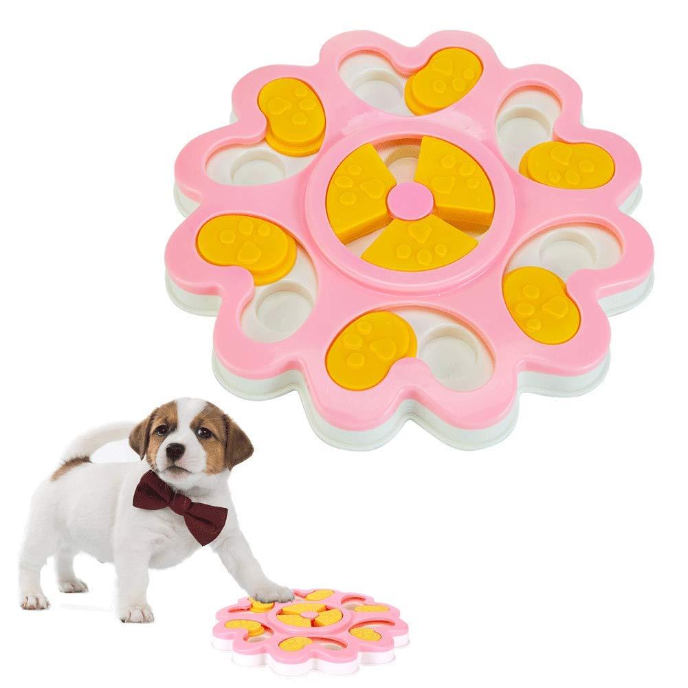 ADOGO Dog Puzzle Feeder Toy,Interactive Treat Dispenser Puzzle Slow Feeder Dog Toy
