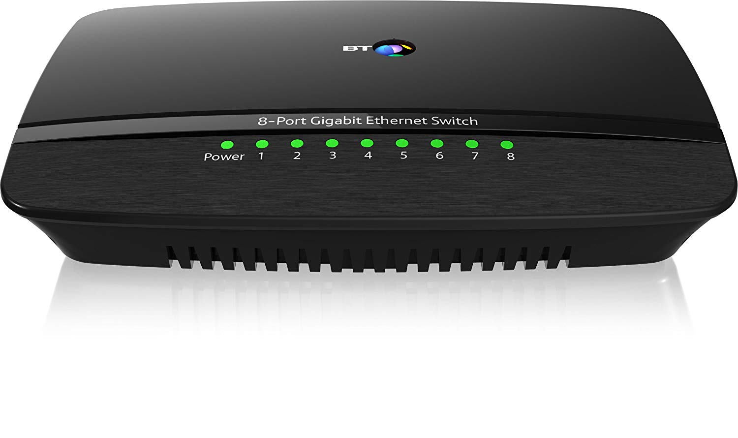 BT 8-Port Gigabit Ethernet Switch, Black for £24.99