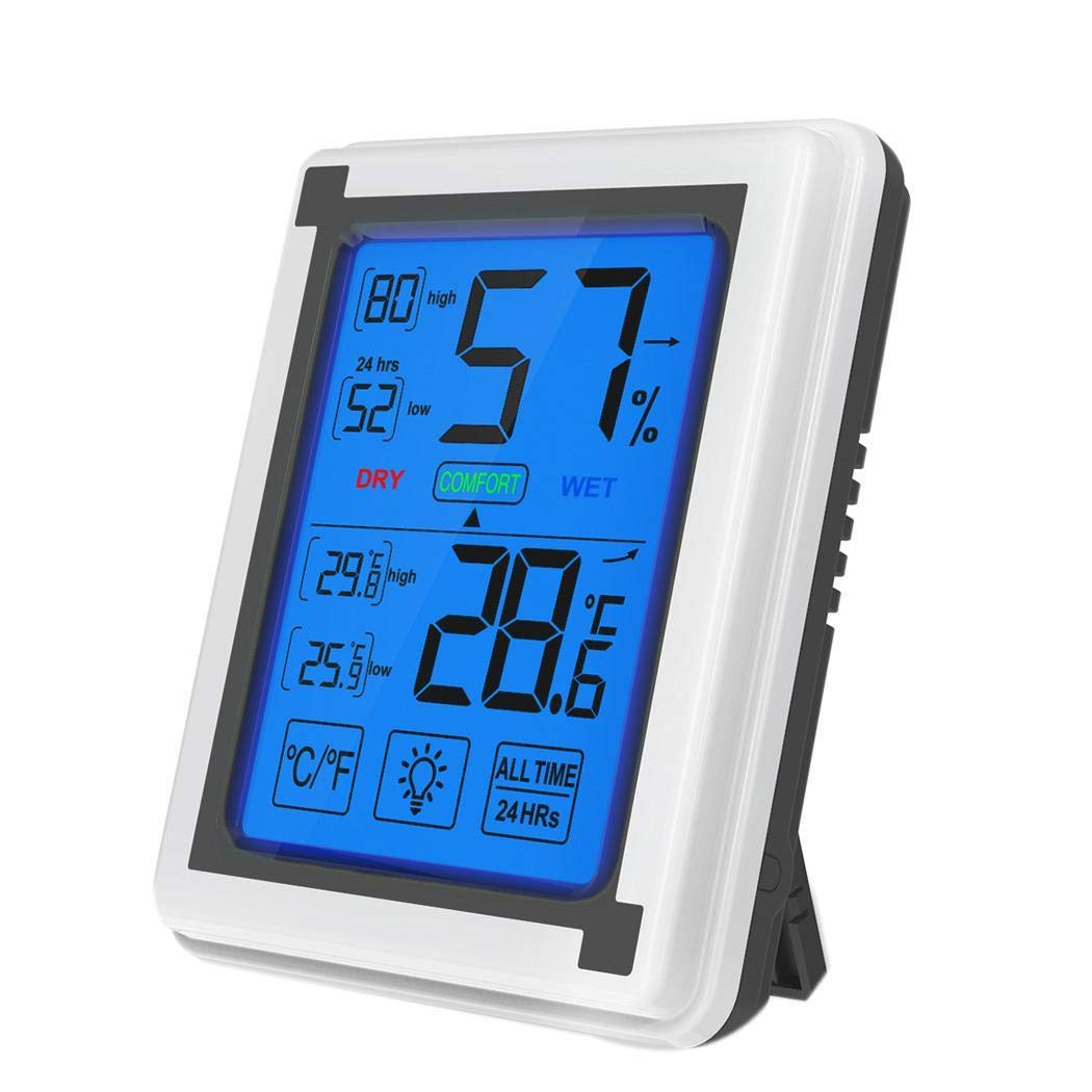 CHIGANT LCD Touch Digital Backlight Temperature Humidity Monitor  for £14.10