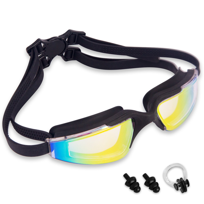 JEFlex Leak-Proof Anti-Fog UV Protection Swimming Goggle Unisex, Black, Adult for £5.99