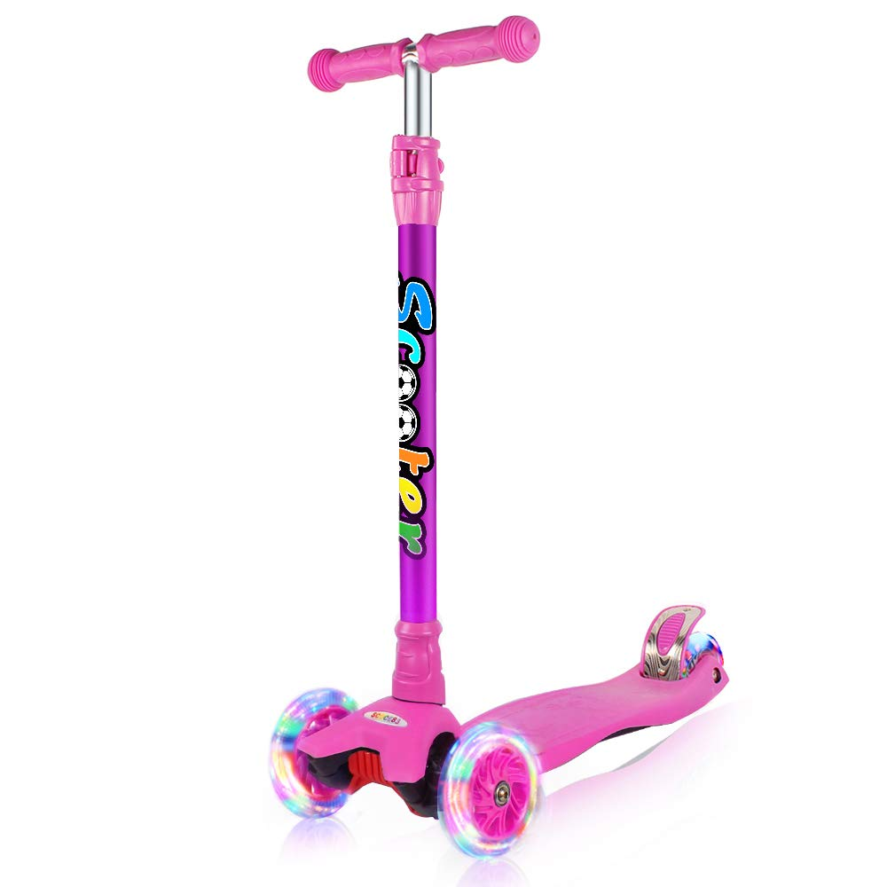 GOOGO Kick Scooter for Kids , Age 3-13 Years Old, Purple