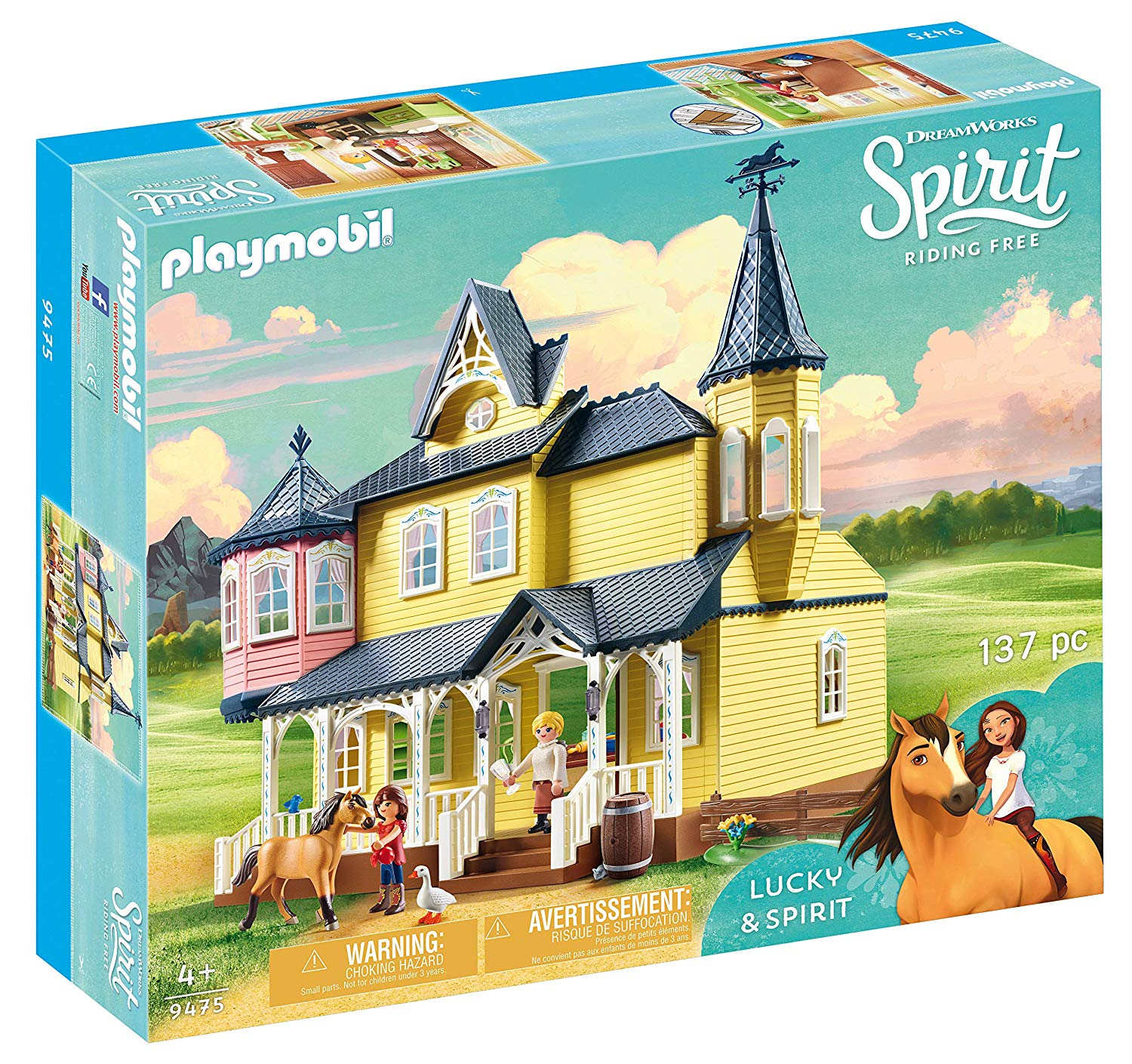 Playmobil, DreamWorks Spirit DreamWorks Spirit 9475 Lucky's Happy Home by Playmobil, Multi-Colour for £47.99