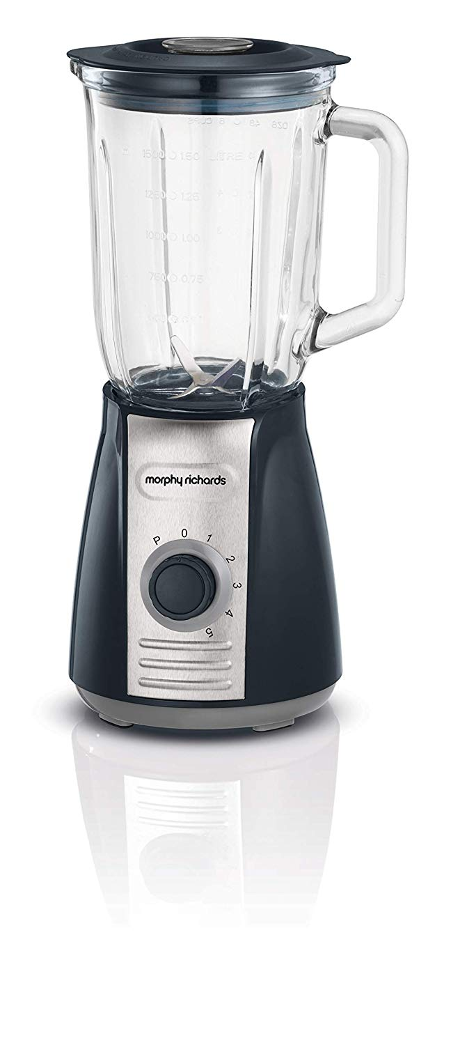 Morphy Richards 403010 Table Blender with Ice Crusher Blades, 600 W, 1.6 liters, Grey
