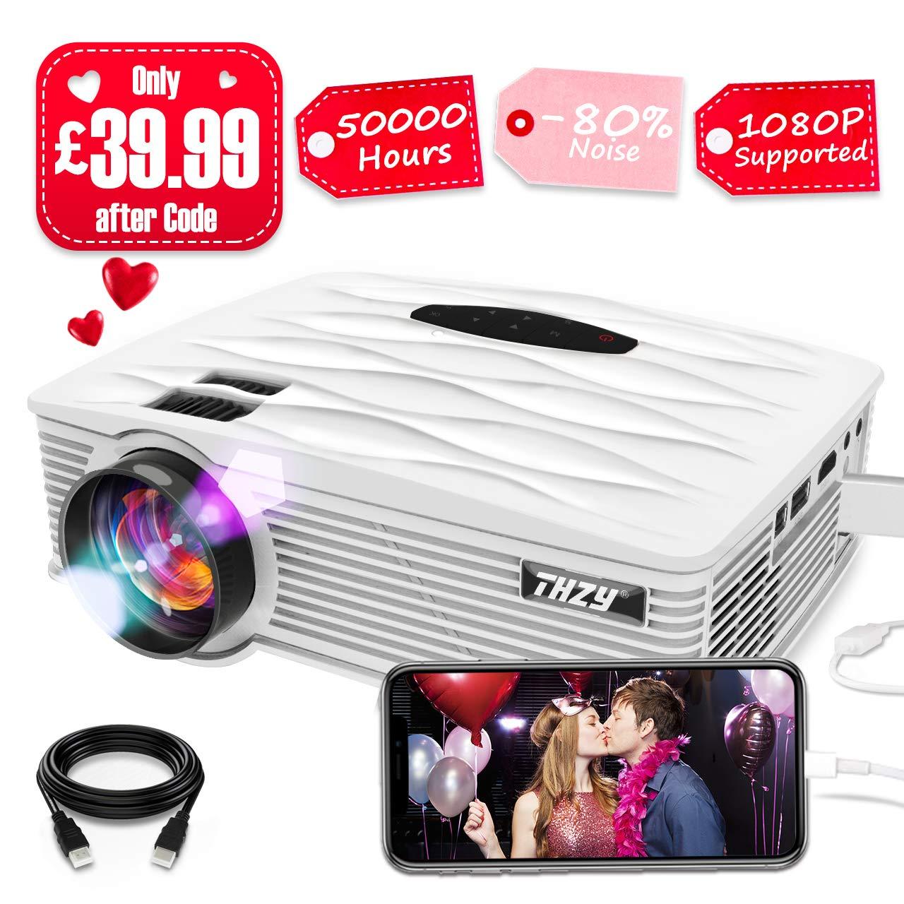 THZY Portable LED 2200 Lumens mini projector