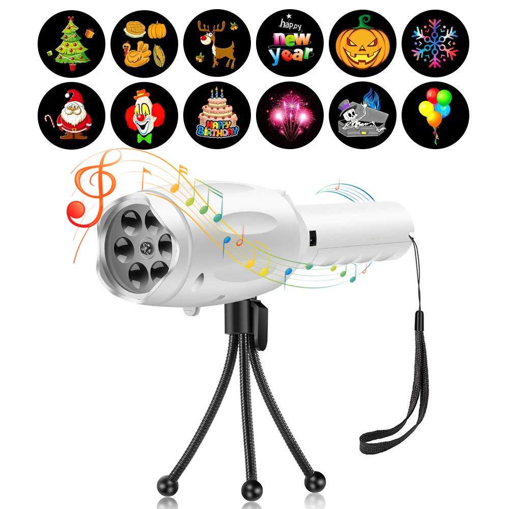 Projector Flashlight Decorative Xmas Handheld Projector Holiday Light