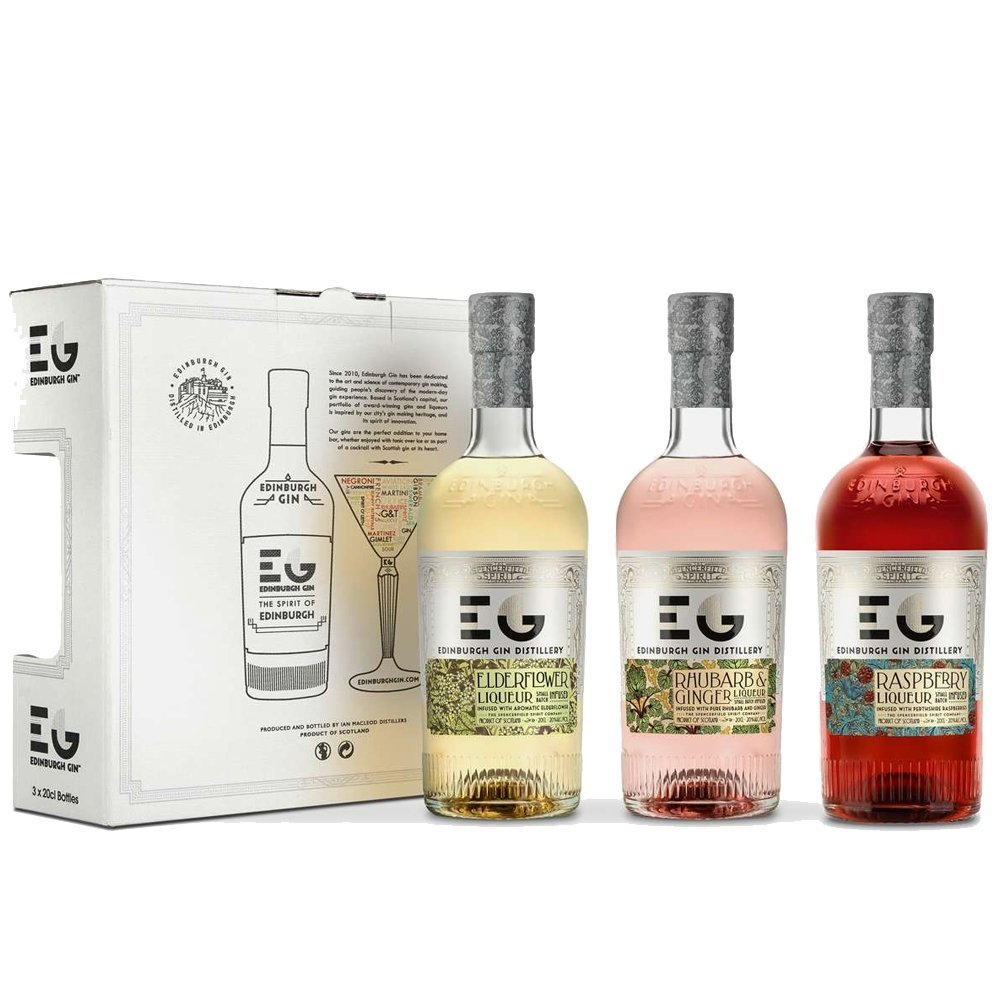 Edinburgh Gin's Liqueurs Gift Set, 3 X 20 Cl