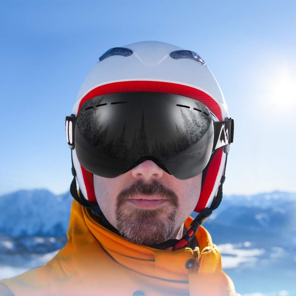 BFULL Men and Women OTG Ski Goggle