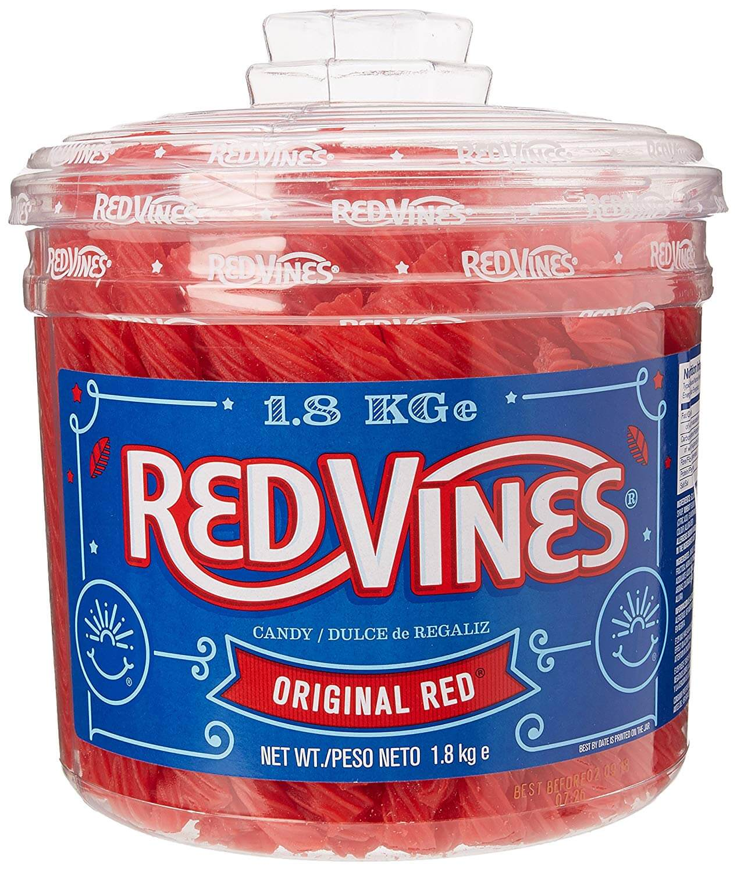 Red Vines Liquorice Tub 1.8 Kg
