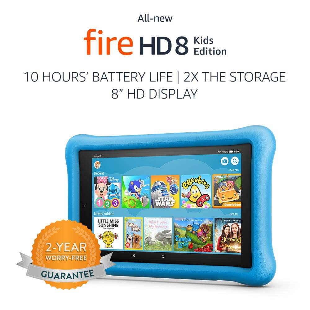 Prime Day- All-New Fire HD 8 Kids Edition Tablet, 8″ HD Display, 32 GB