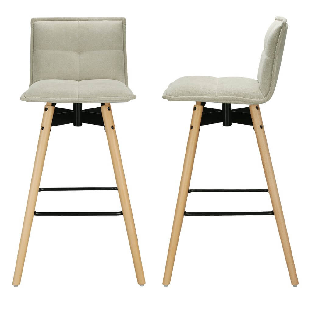 LANGRIA Breakfast Kitchen Counter Chairs Bar Stools Set of 2