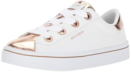 Skecher Street Women's Hi-Lite-Metallic Toe into Sneaker white