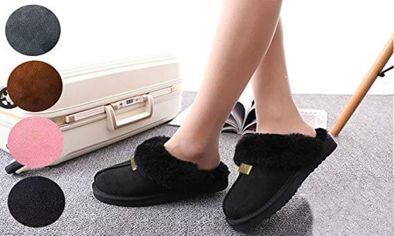 Geniune GCG Ladies Faux Sheepskin Slippers
