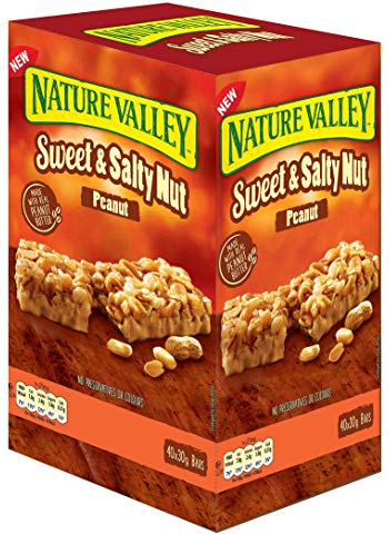 Nature Valley Sweet and Salty Nut Peanut Cereal Bars 30g (Pack of 40 Bars)