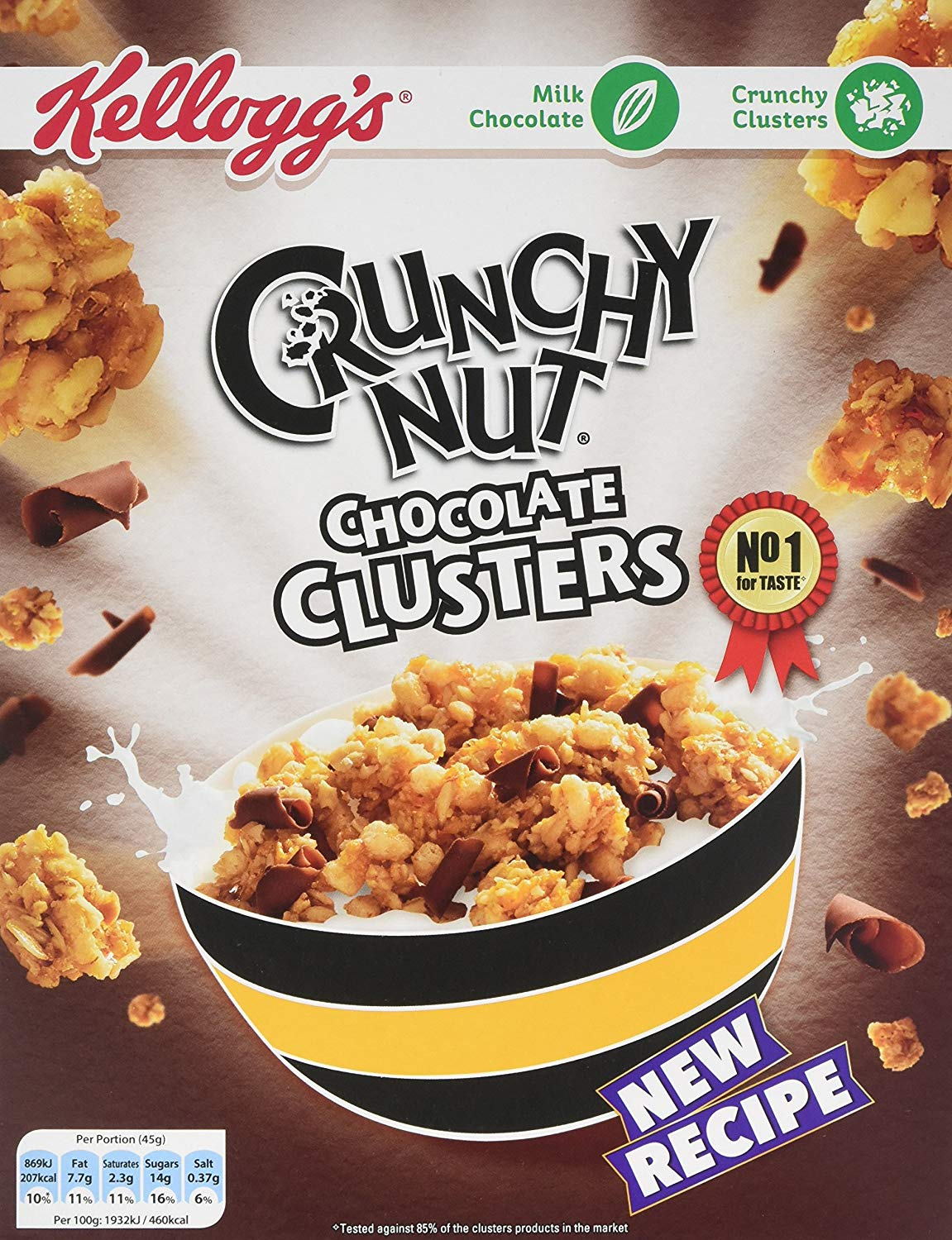 Crunchy Nut Chocolate Clusters Cereal, 450 G (Pack of 5)