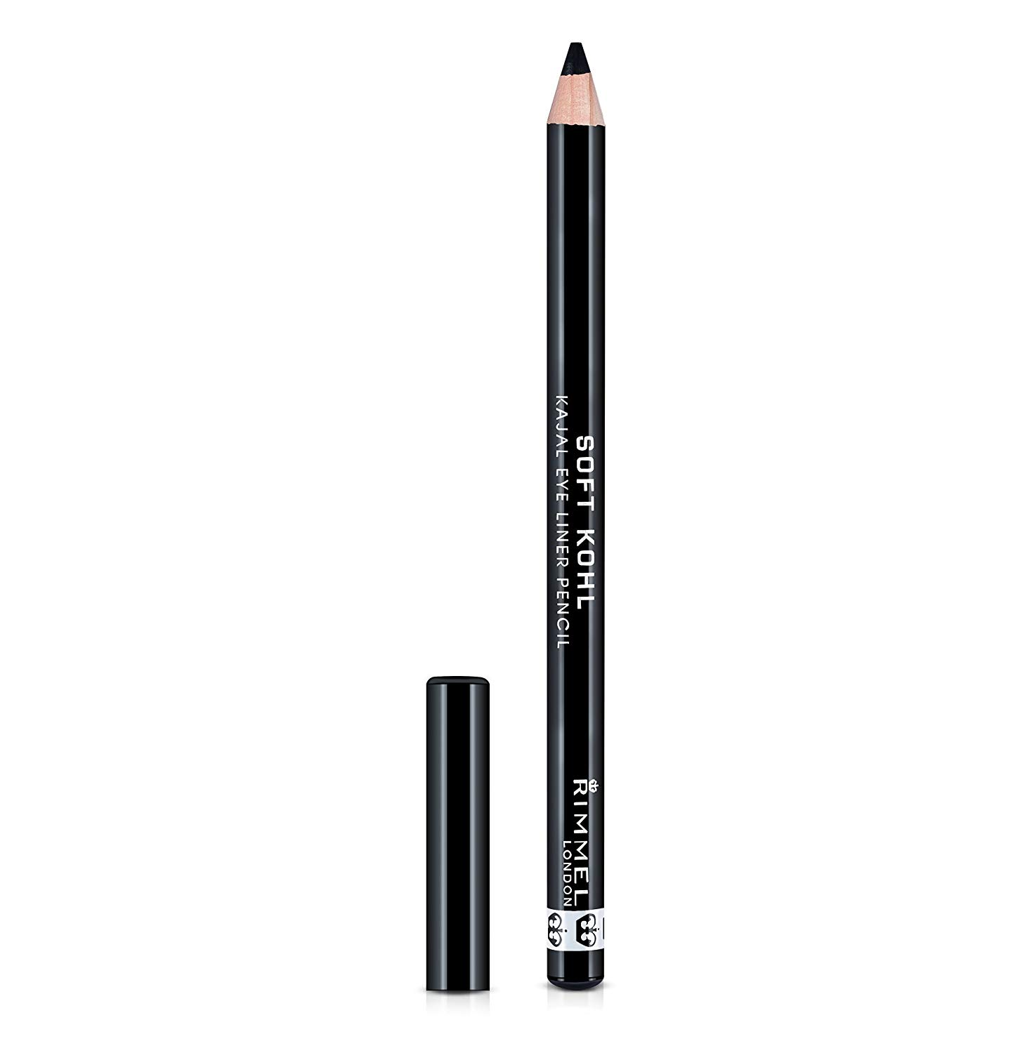Rimmel Soft Kohl Kajal Professional Eyeliner Pencil, Jet Black