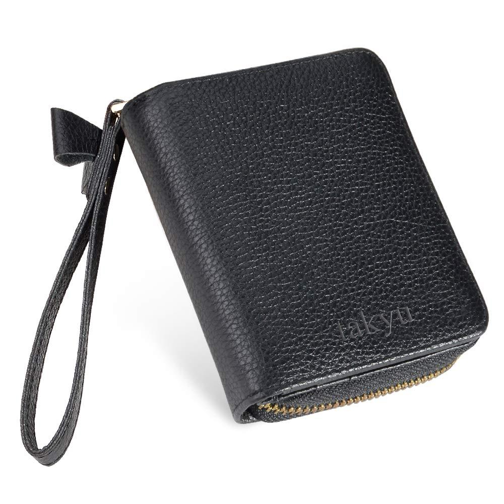 Credit Card Wallets for Women, TAKYU RFID Blocking Premium Genuine Leather Card Holder