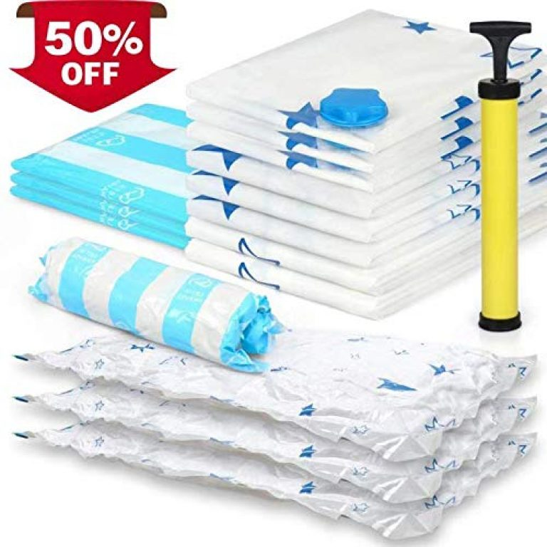 Vacuum Storage Bags| 20 Packs Premium Reusable Space Saving Bags 2xJumbo, 5xLarge, 8xMedium, 5xRoll Up Bags